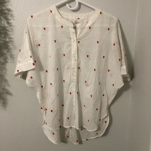 LOFT Blouse Chicken / Rooster NWT